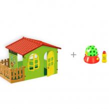 Купить mochtoys игровой домик с забором с установкой hti с автоматическим пусканием мыльных пузырей диско-шар