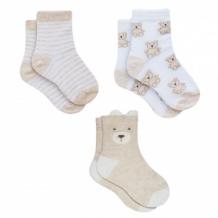 """Купить носки детские """"мишки"""", 3 пары, бежевый, белый mothercare 997249479"""