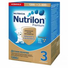 Купить nutrilon детское молочко premium 3, с 12 мес. 1200 г 125174