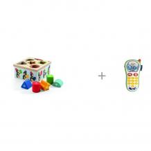 Купить сортер djeco пингвины и игрушка chicco мобильный телефон