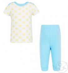 Комплект футболка/брюки Luvable Friends 457723, цвет: желтый ( ID 1421522 )