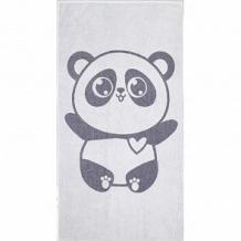 Купить полотенце крошка я панда 70х130 см, цвет: белый/серый ( id 12705490 )
