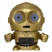 Часы Star Wars Будильник BulbBotz C-3PO Золотник Си-Трипио 14 см 2021418