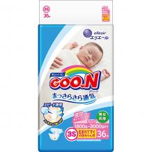 Купить подгузники goon 3s 1,8-3 кг. 36 штук ( id 12435395 )