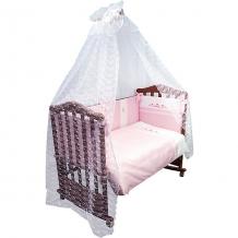 Купить комплект в кроватку 7 предметов сонный гномик, прованс, розовый ( id 4922759 )