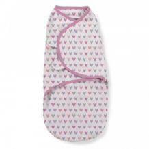 Купить конверт на липучке summer infant swaddleme, s/m, розовый summer infant 997073180
