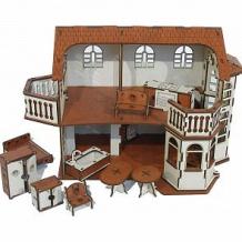 Купить кукольный домик iwoodplay деревянный с эркерами 45 см ( id 9552546 )