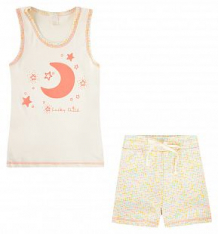 Комплект майка/шорты Lucky Child, цвет: бежевый ( ID 574252 )