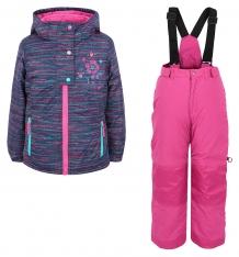 Купить комплект куртка/полукомбинезон peluche&tartine, цвет: фиолетовый ( id 6793099 )