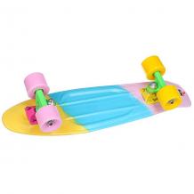 Купить скейт мини круизер пластборды cranberry yellow/light blue/pink 6 x 22.5 (57.2 см) голубой,розовый,желтый 1177788