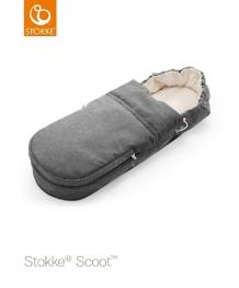 Купить конверт-люлька для коляски stokke scoot black melange, цвет: черный меланж stokke 996874160