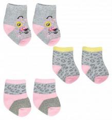 Носки Yo!, цвет: серый/розовый ( ID 9816702 )