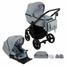 Купить коляска 2 в 1 adamex reggio, цвет: серый ( id 10330211 )