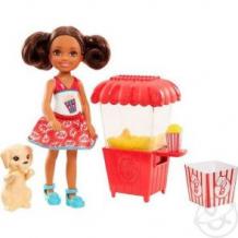 Купить игровой набор barbie челси и щенок ларек с попкорном 14 см ( id 8156749 )