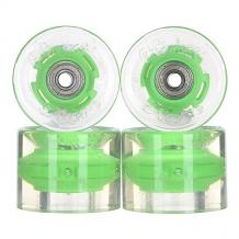 Купить колеса для скейтборда для лонгборда с подшипниками sunset cruiser wheel with abec9 green 78a 59 mm прозрачный,зеленый ( id 1115370 )