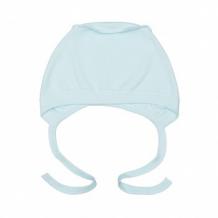 Купить чепчик с завязками для мальчика, цвет: голубой mothercare 996949226