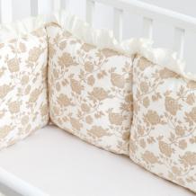 Купить бортик в кроватку colibri&lilly защитный royal rose gold 120х60 rs040200