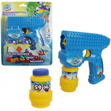 """Мыльные пузыри 1Toy """"Мы-шарики!"""", Пистолет на батарейках, 2 бутылочки по 59 мл ( ID 11389944 )"""