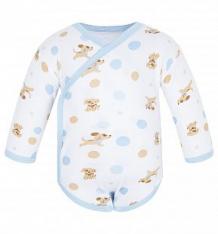 Купить боди чудесные одежки собачки и горох, цвет: белый/голубой ( id 5780887 )