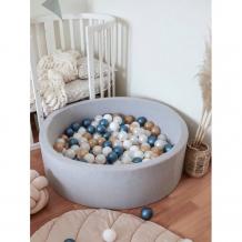 Купить anlipool сухой бассейн с комплектом шаров metallic blue anpool2004