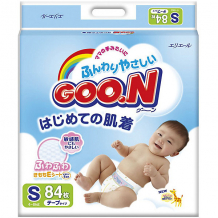 Подгузники Goon, S 4-8 кг, 84 шт. ( ID 3361339 )