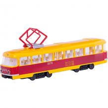 Купить трамвай, пластик, свет+звук, открыв. двери, технопарк ( id 4763394 )