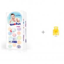 Купить yokosun подгузники-трусики xl (12-20 кг) 38 шт. с детским шампунем-гелем weleda 200 мл