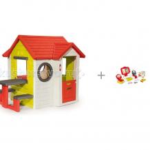 Купить smoby игровой детский домик со столом с электронной кассой с аксессуарами
