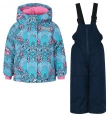 Купить комплект куртка/полукомбинезон salve by gusti, цвет: голубой/розовый ( id 9820365 )