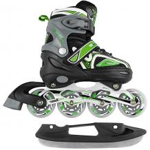 Купить раздвижные коньки-ролики maxcity volt ice, зелёные ( id 13056140 )
