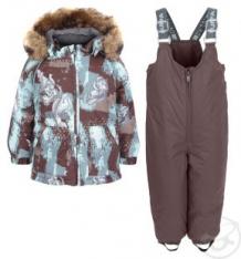Комплект куртка/брюки Huppa Avery, цвет: коричневый ( ID 6155395 )