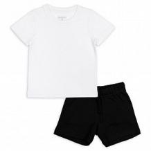 Купить комплект футболка/шорты me&we, цвет: черный/белый ( id 12569920 )