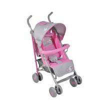 Купить коляска-трость bambola заяц, розовый/серый 5559183