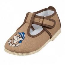 Купить туфли текстильные топ-топ, цвет: коричневый ( id 12507046 )