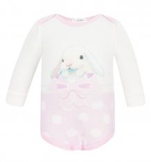 Купить боди linas baby, цвет: белый/розовый 749-9