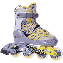 Купить роликовые коньки school, желтые 8338848