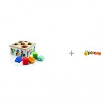 Купить сортер djeco пингвины и развивающая игрушка maman гусеница