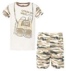 Купить комплект футболка/шорты makoma trapper, цвет: хаки ( id 8335975 )