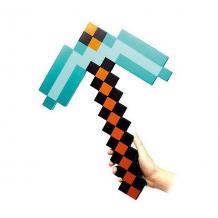 Купить пиксельная кирка, алмазная, 45 см, minecraft ( id 4986599 )