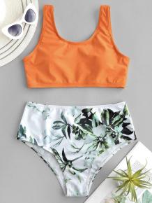 Купить zaful plant print mix and match tankini swimsuit ( id 448925302 )