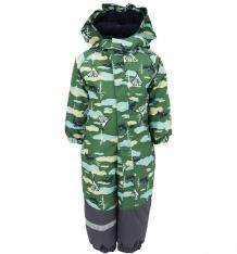 Купить комбинезон lappi kids утепленный, цвет: зеленый ( id 3348944 )