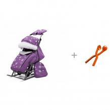 Купить санки-коляска pikate снежинки со снежколепом снежкодел.рф мини 8594