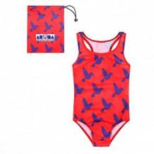 Купить купальник слитный aruna колибри, цвет: красный ( id 12608572 )