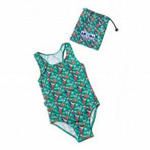 Купить купальник слитный aruna попугаи, цвет: зеленый/красный ( id 12608314 )