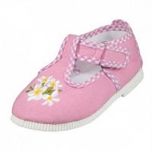 Купить туфли текстильные топ-топ, цвет: розовый ( id 12506824 )