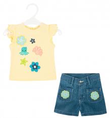 Купить комплект футболка/шорты allini, цвет: синий/желтый ( id 9364261 )
