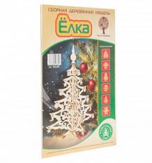 Купить сборная деревянная модель wooden toys ёлка новогодняя ажурная с игрушками ( id 4395985 )