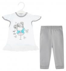 Купить комплект футболка/бриджи koala magiczna wrozka, цвет: белый v6-099