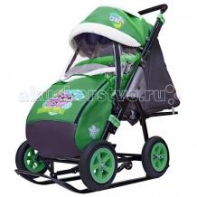 Купить санки-коляска galaxy snow city-1-1 совушки надувные колёса