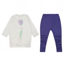 Купить комплект джемпер/леггинсы vataga, цвет: белый/фиолетовый ( id 8446783 )